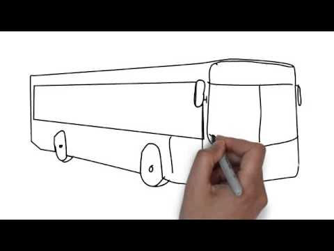 Basic School Drawing How to Draw Bus