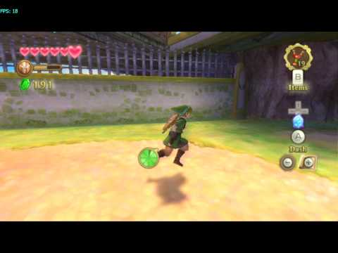 Zelda - Skyward Sword on Dolphin with Motion Control Emulation (Logitech setup)
