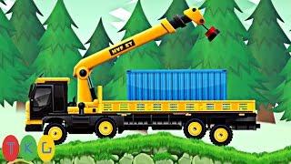 Lắp ráp Xe xúc đất, Máy ủi đất, Xe cần cẩu, Xe tải 22   Kids Pluzzle CONSTRUCTION CITY 2 [105-108]