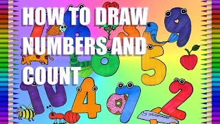 How to Draw Numbers Learn to Count 1 to 10 Drawing|Numbers|Fun Colour Art