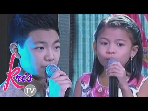 Darren and Lyca sing