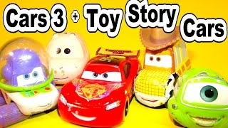 The Pixar Cars 3 and Lightning McQueen with Toy Story Cars Travelling Circus Movie