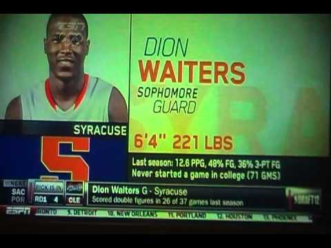 2012 NBA Draft | Dion Waiters #4 Pick | Cleveland Cavaliers