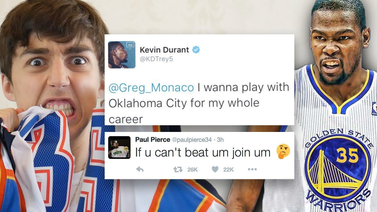THUNDER FAN REACTION TO TWEETS ABOUT KEVIN DURANT JOINING THE GOLDEN STATE WARRIORS