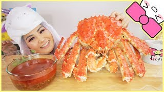 $400 5LB WHOLE ALASKAN KING CRAB l MUKBANG