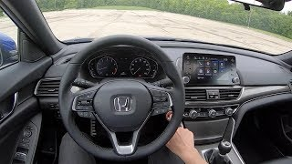 2019 Honda Accord 2.0T Sport 6-Speed Manual - POV Review