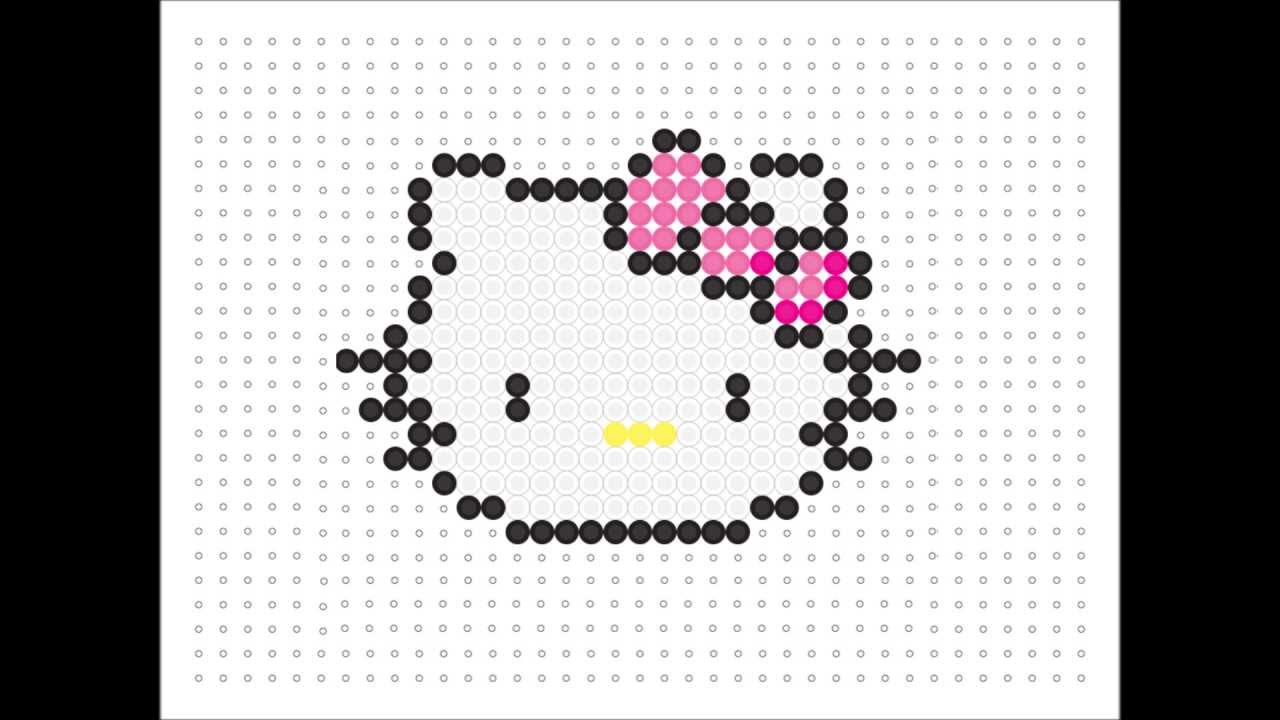 hama bead hello kitty  kawaii series  9