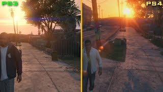 GTA V - Comparação IN-GAME: PS4 vs PS3 - Noberto Gamer