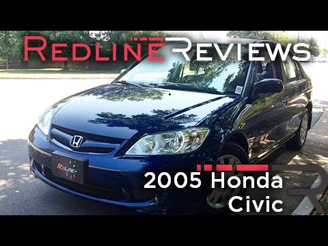 2005 Honda Civic Review, Walkaround, Exhaust, & Test Drive