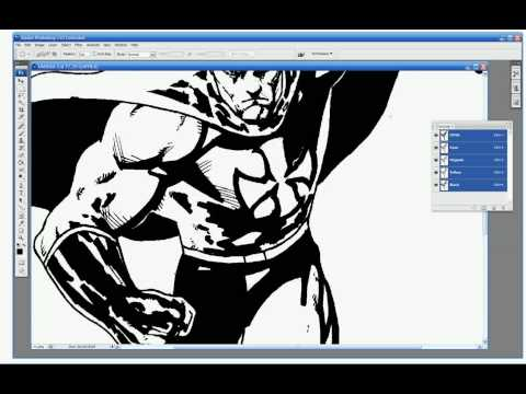 Coloring Comics in Photoshop Tutorial 1, Getting Started