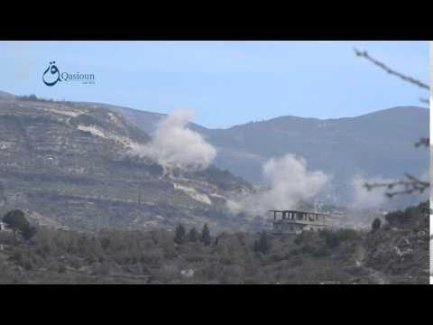 Qasioun News: Lattakia: Rocket launchers hits Kurd mount's villages by the regime forces 20-2-2016