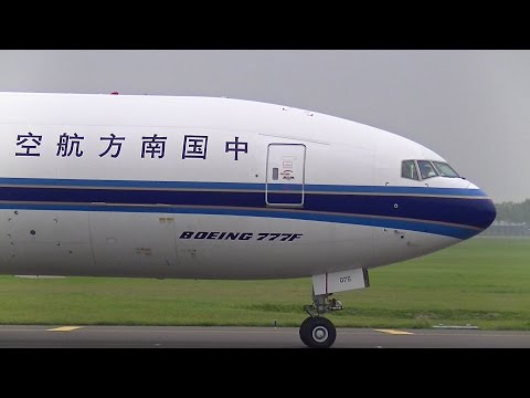 China Southern B777-F (B-2075) Close Up Taxi at Schiphol Intl. Airport