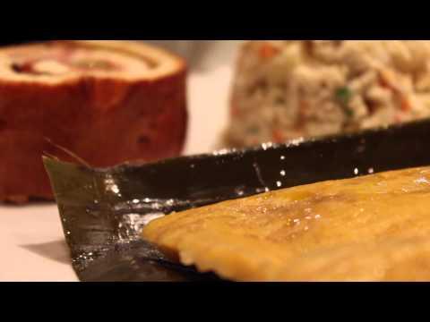 Hallaca y pan de jamon