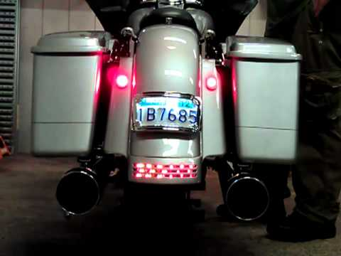 Harley Street 500 >> 2002 Road Glide with Steet Glide rear Fascia and custom Lighting - YouTube
