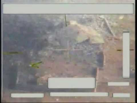 U.S. Air Force F-16 air strike on insurgent safe house and rocket launch site
