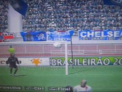 gol de falta de Frank Lampard - Chelsea