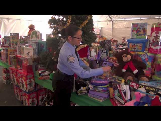 LAPD Winter Wonderland Toy Giveaway feat. Toys from Muscle Beach
