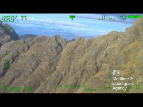 Lone walker rescued from Bla Bheinn peak by UK Coastguard helicopter