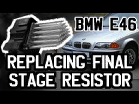 How to Replace Final Stage Resistor (FSR aka Hedgehog) - BMW E46 3.18i - Full Detail. Sparks and All