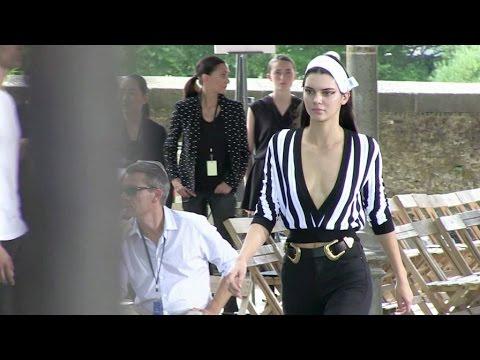 Naomi Campbell, Irina Shayk, Joan Smalls and Kendall Jenner at the Givenchy rehearsal in Paris