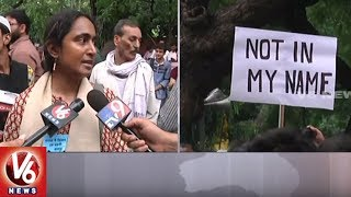 Not In My Name : Thousands Protest At Jantar Mantar Against Series Of Mob Lynching