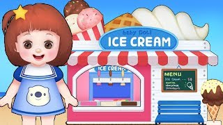 Baby Doli IceCream shop and baby doll toy play