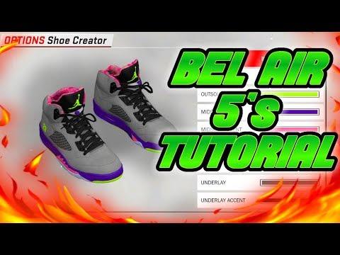 NBA 2K18 SHOE CREATOR TUTORIAL HOW TO MAKE AIR JORDAN BEL AIR 5 BEST AIR JORDAN RETRO IN NBA 2K18
