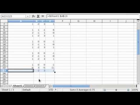 Solving Systems of Equations with OpenOffice (and Excel)