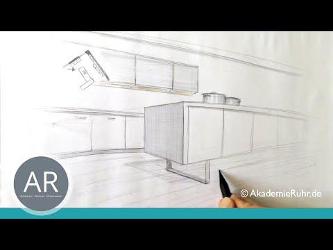 zeichnen lernen akademie ruhr perspektivisches zeichnen zweipunkt perspektive youtube. Black Bedroom Furniture Sets. Home Design Ideas