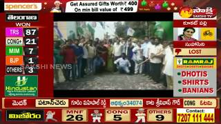 Prajakutami Fails - YSRCP Celebrations in Kakinada -- Telangana Elections Results 2018 - netivaarthalu.com