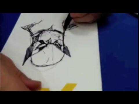 Humberto Ramos dibujando a Wolverine/ Drawing Wolverine