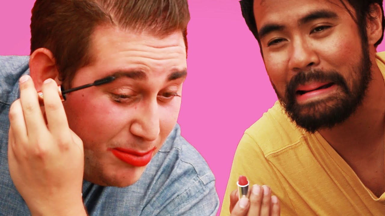 Guys Try Basic Makeup