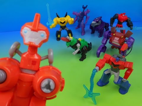 2015 TRANSFORMERS ROBOTS IN DISGUISE R.I.D. SET OF 8 McDONALD'S HAPPY MEAL KID'S TOY'S VIDEO REVIEW