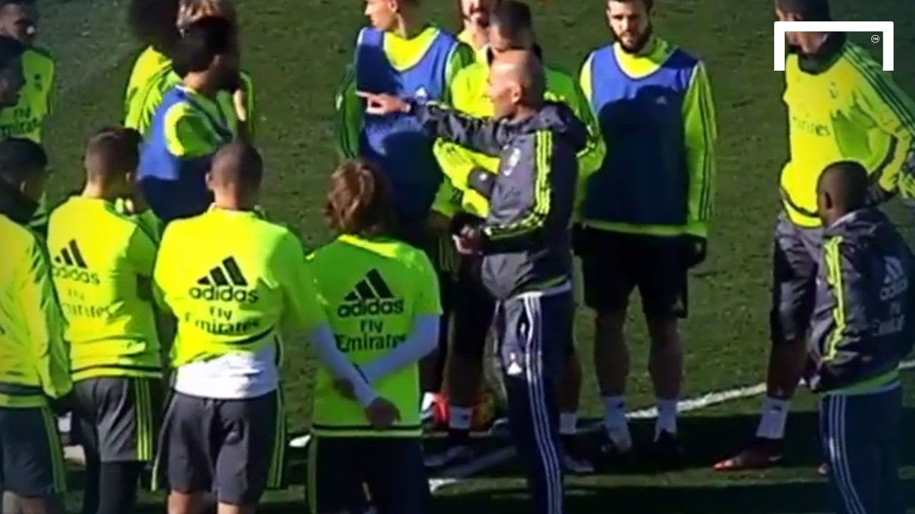 Zidane leads Real Madrid training for first time