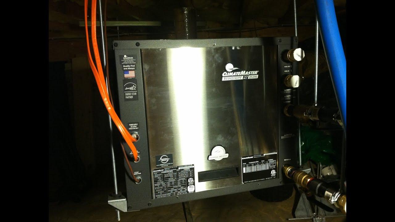 Climatemaster Heat Pump Wiring Diagram : Climatemaster geothermal heat pump simple diy installation