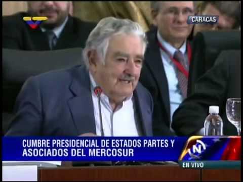 29.07.2014 José Pepe Mujica en la Cumbre de Mercosur en Caracas