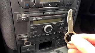 Ford Mondeo / Focus stereo removal - with keys - Mondeo MK III, Focus MK II