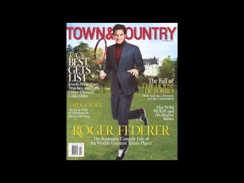 Roger Federer covers Town & Country won't be retiring any time soon