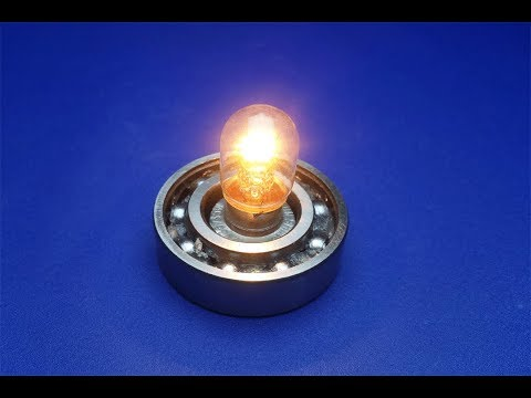 free energy light bulb with speaker magnets - new technology idea 2018 thumbnail