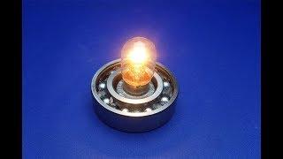 free energy light bulb with speaker magnets - new technology idea 2018