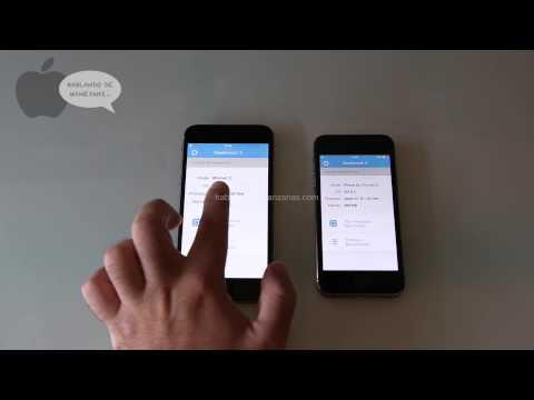 Comparativa rendimiento iPhone 6 4,7'' frente a iPhone 5S en Español Geekbench