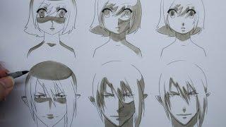 How To Draw Manga: Shading Manga Faces Three Different Ways