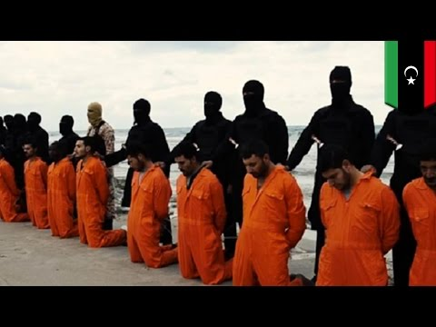 ISIS cuts the throats of 21 Egyptian Coptic Christians in Libya, Egypt retaliates with airstrikes
