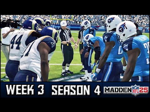 Madden 25 Rams Connected Franchise: Week 3 @ Titans (Season 4)