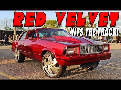 RED VELVET GBODY Turns Up at the Track! Kandy Red Malibu on 24s