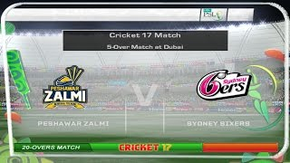 PSL vs Bigh Bash 2016 | Peshawar Zalmi vs Sydney Sixers - Game Play