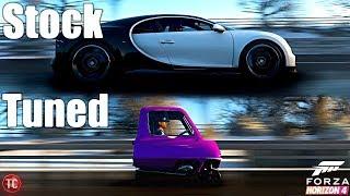 Forza Horizon 4: Stock vs Tuned! Bugatti Chiron vs Peel P50