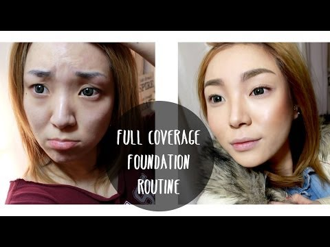 FULL Coverage Flawless Foundation Routine (for acne scar coverage)