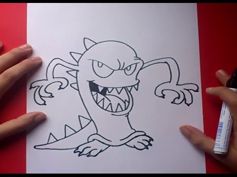 Como dibujar un monstruo paso a paso 3 How to draw a monster 3