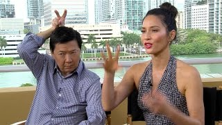 Exactly how FUNNY is Ken Jeong when put on the spot? Olivia Munn and I find out... (Ride Along 2)